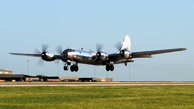 B-29 'Doc' takes to the skies from McConnell