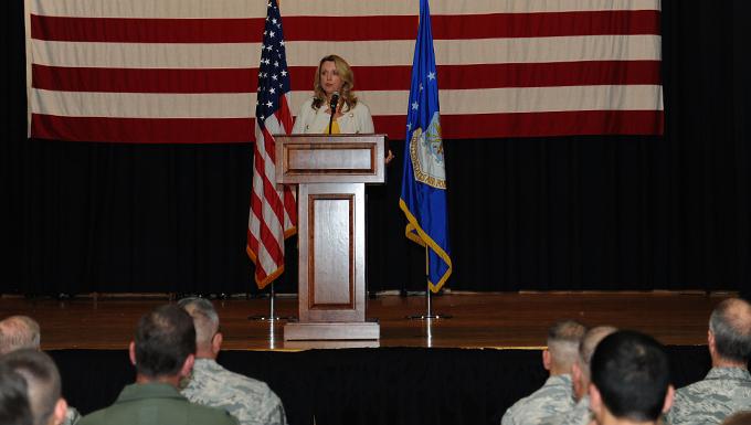 SecAF tours McConnell, mentors Airmen